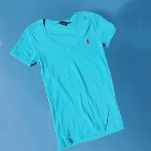 Blue Ralph Lauren Polo V-Neck
